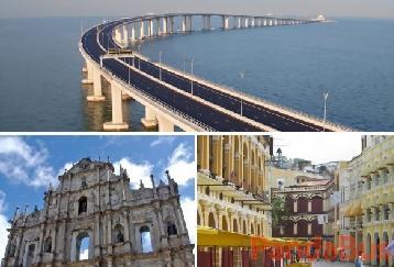 【スタンダードランチ付き】マカオ世界遺産観光1日コース(フェリー/港珠澳大橋)