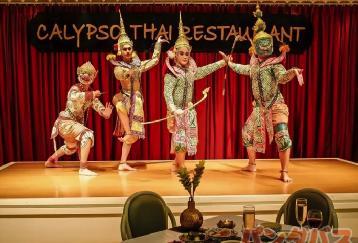 古典舞踊付きディナーとニューハーフショー(カリプソ)