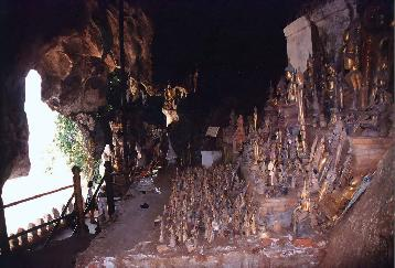 【LPQF07】一日:パクオー洞窟とサンコン村とサンハイ村とクアンシー滝・モン族の村(昼食+夕食付)